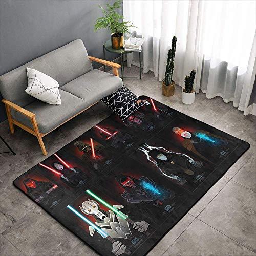 Matt Flowe Star Wars Sala de estar Alfombras 6'x8'star wars alfombras para cocina para entrada
