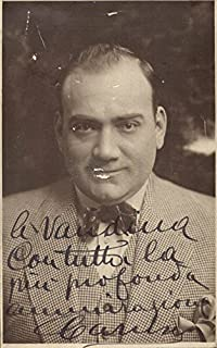 Enrico Caruso - Picture Post Card Signed