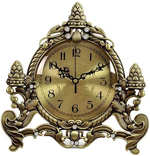 ZouYongKang Reloj de alarma analógico Reloj de escritorio retro Computado por batería Reloj despertador silencioso, decoración del hogar para dormitorio Sala de estar Cocina Oficina de oficina Reloj d