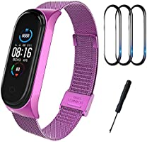 BDIG Correa Compatible Mi Band 5 Correas Metal, Pulsera de Acero Inoxidable Agradable para Mi Band 5 Correa (No Host)