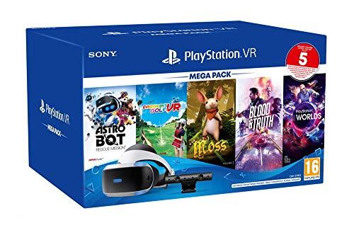 PlayStation VR MK4 Méga Pack 3 - 5 Jeux (VR Worlds + Moss + Astrobot + Everybody's Golf + Blood & Truth)
