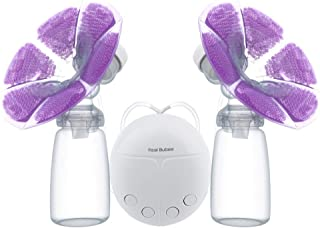 Real Bubee Double Electric Breast Pump Convenient USB PP BPA Free Baby Feeding Breast Feeding Massager With Milk Bottle Tw...