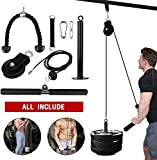 Skboy Fitness LAT and Lift Pulley System, Cable Machine with Upgraded Loading Pin for Triceps Pull...