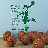 Geiqianjiumai Champion Zitate Sagen Vinyl Wandtattoos Dekoration Wandaufkleber bieten Basketball Sätze entfernbares Wandbild grün 114x138cm