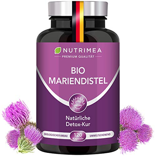 DETOX-Kur Mariendistel BIO   Natürlich Leber & Körper entgiften   Reines Mariendistel-Extrakt OHNE Zusätze   120 Kapseln Hochdosiert - 900 mg TAGESDOSIS - 100% Vegan