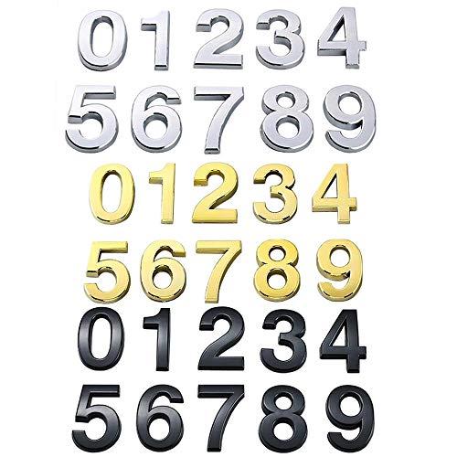 Leere 5 cm selbstklebende Nummer Aufkleber Wohnung Tür Nummer 0 bis 9 Ziffern Haus Hotel Bürotür Schrank Mailbox Nummer Tür Nummer, Gold, Nummer 8