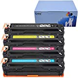 KATRIZ Reemplazo para HP 125A CB540A CB541A CB542A CB543A Cartucho de t¨®ner compatible para HP CP1210 CP1215 CP1215N CP1217 CP1510 CP1514 CP1514N CP1515N CP1518 CP1518NI CM1312 Impresora