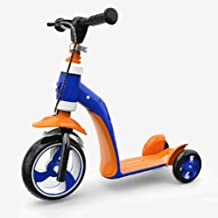 Mopoq 2-in-1 Adjustable Tricycle Balance And 3-wheel Scooter 2-6 Years Old Child Boy Or Girl Scooter Children Can Sit Chil...
