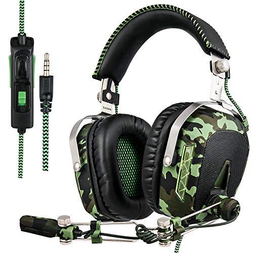 Sades SA926T Auriculares Gaming - 3.5mm Cancelación De Ruido Gaming Headset, juego auriculares con micrófono para nueva Xbox One PS4 portátil Mac Tablet iPhone iPad iPod