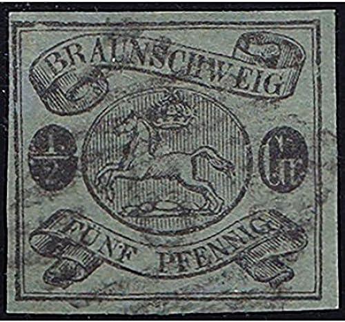 Goldhahn BraunschWeiß Nr. 10 Ax gestempelt geprüft Briefmarken für Sammler