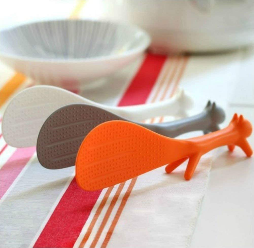 RUITASA Lowest price challenge Rice High quality Paddle 3PCS Lovely Spoon Squirrel Shape R Standing
