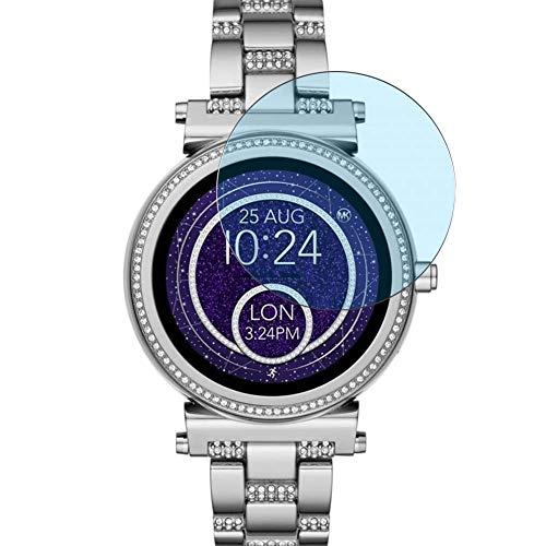 Vaxson 3 Stück Anti Blaulicht Schutzfolie, kompatibel mit Michael Kors Access Sofie 2 42mm Smartwatch Hybrid Watch, Displayschutzfolie Bildschirmschutz [nicht Panzerglas] Anti Blue Light