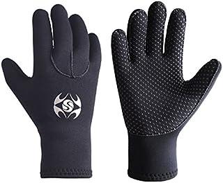 pandawoods Diving Gloves 3mm Neoprene Gloves Thermal Anti-Slip Wetsuit Gloves for Men Women Diving Snorkeling Swimming Sur...