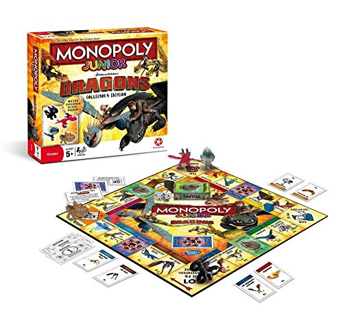 Winning Moves WIN44161 - Monopoly Junior-Dragons Collectors Edition Spiel