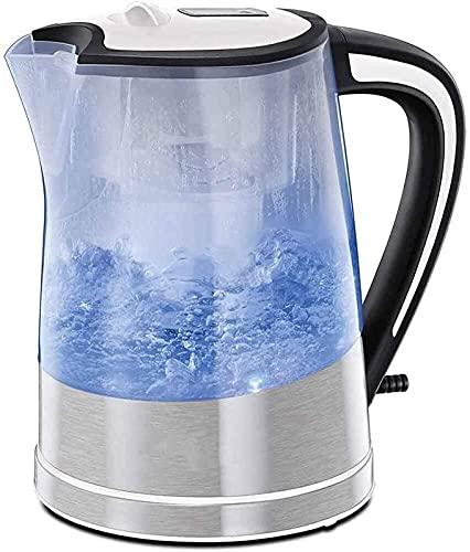 XQKQ Bouilloire électrique de pureté de Filtre Bouilloire filtrante éclairante avec Cartouche Incluse Caractéristiques de surchauffe débullition sèche en Plastique pour la Cuisine à Domicile