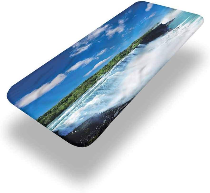 LCGGDB Mantel ajustable de poliéster para mesa de picnic en cascada, Niagara Falls in the USA con bordes elásticos, 91,4 x 243,8 cm, para mesa de picnic