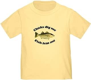 Chicks dig me, Fish Fear me Toddler Toddler Tshirt