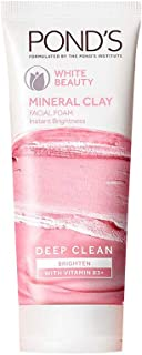 POND'S White Beauty Mineral Clay Instant Brightness Face Wash Foam, 90 g