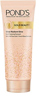 Pond's Gold Beauty Gold Cleansing Face Wash, 24K Pure Gold, French Rose Extracts, Clear Radiant Glow, Removes Dullness, Il...
