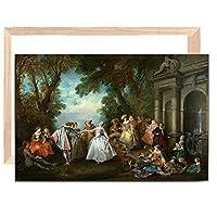 ZesenArtキャンバスフレームキットヨーロッパのパーティーパレス絵画キャンバスに油絵ポスターとプリントスカンジナビアポップアート壁画リビングルームの装飾-12X16インチ