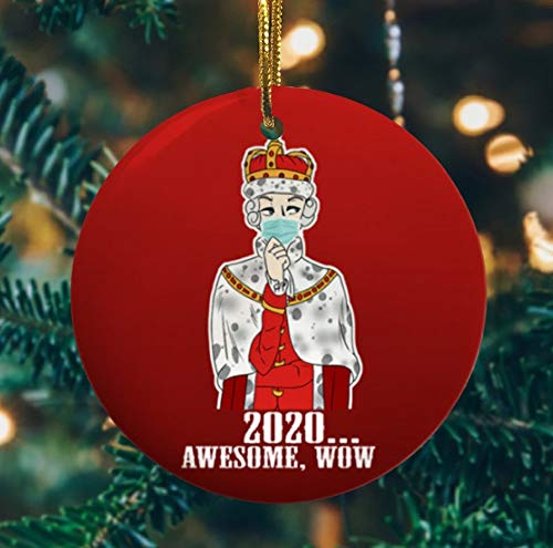 Lplpol Hamilton King George 2020 Awesome Wow Christmas Ornament, Funny Xmas Gift