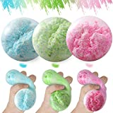 Anti Fidget Stress Balls for Adults and Kids, 3pk Sensory Stress Relief Fidget Balls, Best Calming Tool to Relieve Anxiety, Cool Squeeze Ball, Tear-Resistant Squishy Toys for Kids with Autism/ADD/ADHD