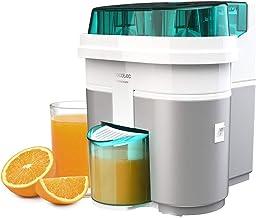 Cecotec EssentialVita Twice White elektrische citruspers, 90 W, dubbele kop en snijder, vruchtvleesfilter, glas 500 ml, va...