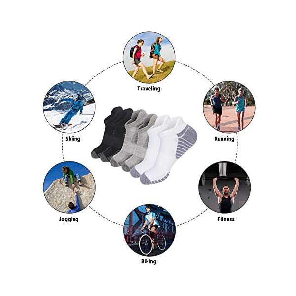 TANSTC Athletic Running Socks for Men&Women,Ankle Low Cut Sports Sock,6 Pairs
