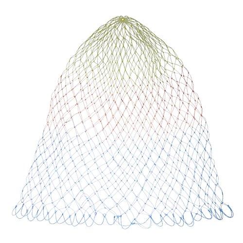 SM SunniMix Angeln Kescher Netz Unterfangskescher Nylon Kescher Fischernetz Fliegenfischernetz - Bunt, D50CM