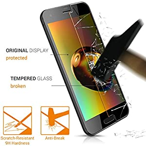 2x kwmobile Screen protector tempered glass for HTC One A9s in crystal clear - Premium quality