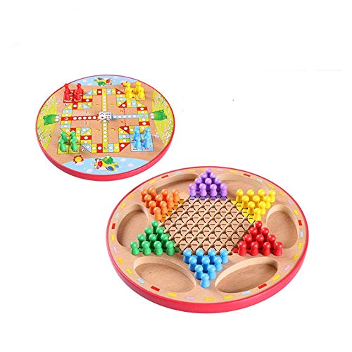 Checkers Chinese Houten Checkers Game Two-in-one Board Game Premium Quality A Great Checkers Game Board Games aijia ( Color : True Color , Size : Free size )