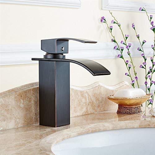 YBB-YB YankimX - Grifo mezclador para lavabo de baño, ahorro de agua, cobre y agua fría