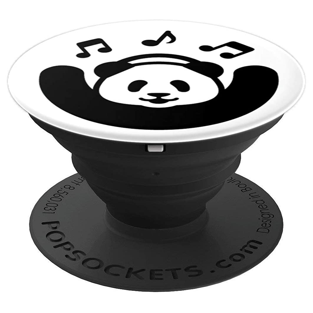 cool cute panda listening to music love music popsocket - PopSockets Grip and Stand for Phones and Tablets