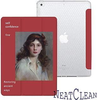 NeatClean ipad 9.7 ケース ペンシル収納 おしゃれ ガール ipad 9.7 ケース pencil収納 油絵 iPad 第六世代 9.7 インチ ケース 2018 iPad 第五世代 9.7 インチ ケース 2017 ipad air10.5 ケース Air3ケース Air2ケース Airケース 手帳型 iPad mini5ケース mini4ケース mini3ケース mini2ケース miniケース アイパッドカバー ipad pro11 ケース ペンシル ipad pro10.5 ケース おしゃれ ipad 9.7 ケース かわいい かっこいい 耐衝撃 魅力的 アイパッドケース 三つ折り 二つ折り ペンシル収納 かわいい オシャレ 英字 女の子 イラスト(iPad Pro/Air 10.5,a柄)
