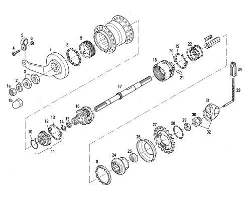 Linsenschraube M6 x 16 mm für SRAM