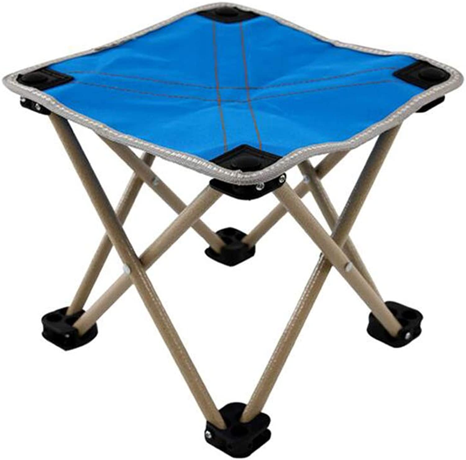 WGXX Chairs Stool Folding Seat Rest Portable Tripod Camping Sports Lightweight Mountaineering (color   bluee)