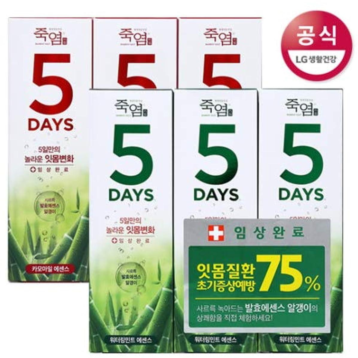 ゲージ治安判事モザイク[LG HnB] Bamboo Salt 5days Toothpaste /竹塩5days歯磨き粉 100gx6個(海外直送品)