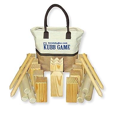 Amish-Made Kubb Game Set, Regulation Size
