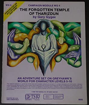 The Forgotten Temple of Tharizdun (Advanced Dungeons & Dragons module WG4) - Book  of the Advanced Dungeons and Dragons Module #C4