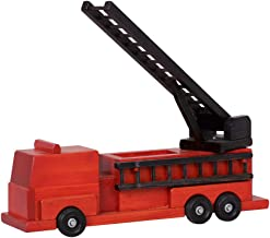 product image for DutchCrafters American Made Wooden Toy Fire Truck (Large, Red)