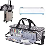 Luxja Carrying Bag Compatible with Cricut Die-Cutting Machine and Supplies, Tote Bag Compatible with Cricut Explore Air (Air2) and Maker (Bag Only, Patent Pending), Gray Dots