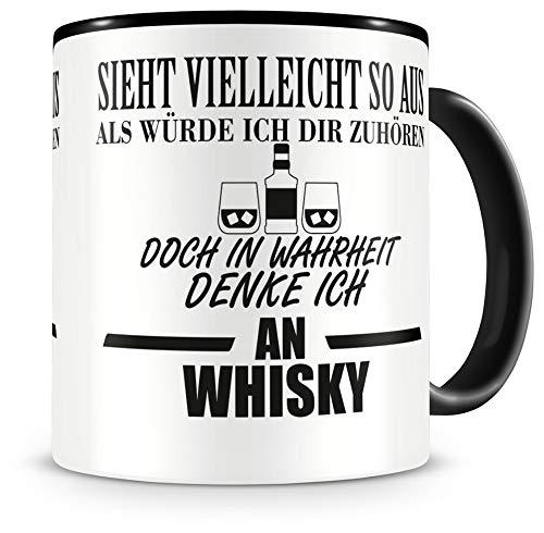 Samunshi® Ich denke an Whisky Tasse Kaffeetasse Teetasse Kaffeepott Kaffeebecher Becher
