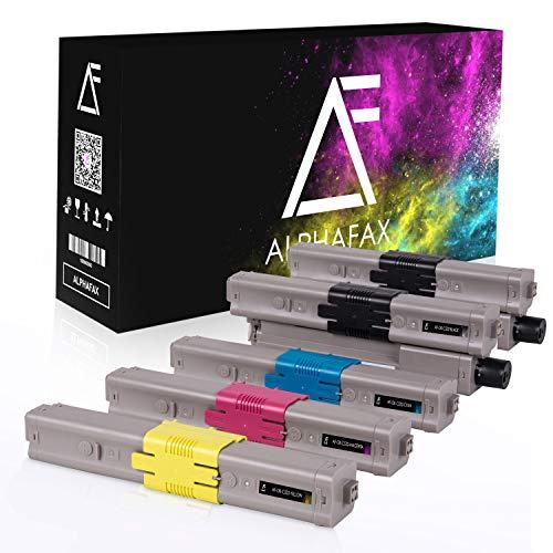 5 Alphafax Toner kompatibel mit Oki MC573-DN C532-DN C542-DN MC563dn