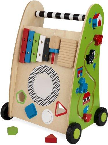 KidKraft 63246 Chariot de jeu en bois à pousser, jeu d'éveil, puzzle premier âge, jouets enfant