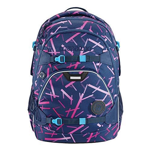 """coocazoo Schulrucksack ScaleRale """"Cyber Pink"""", rosa, ergonomischer Tornister, höhenverstellbar mit Brustgurt und Hüftgurt für Mädchen ab der 5. Klasse, 30 Liter"""
