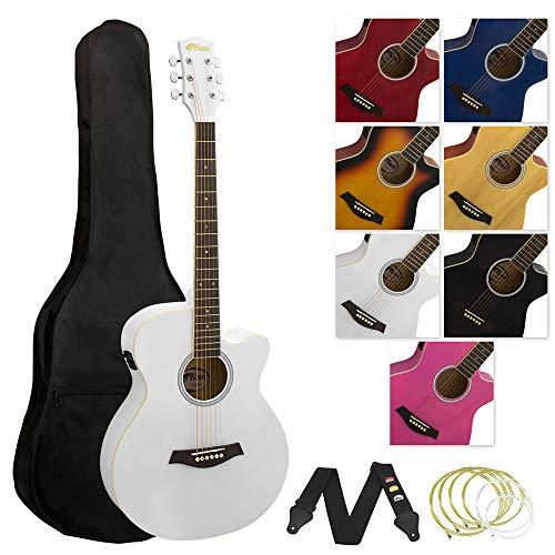 Tiger ACG4-WH Elektro-Akustische Gitarre-Set - Weiß