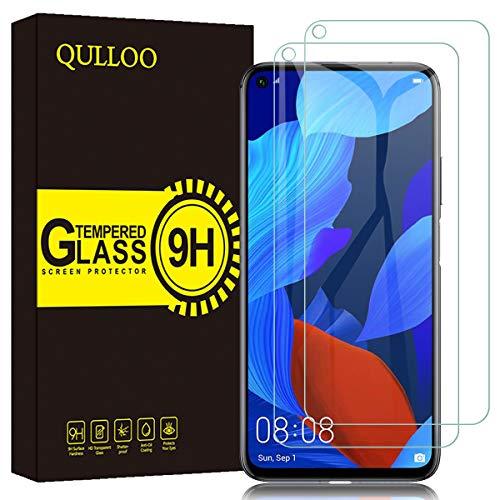 QULLOO Verre Trempé pour Huawei Nova 5T / Honor 20 Pro/Honor 20, Couverture Complète Protecteur Film Anti-Rayures Film de Protection Écran pour Huawei Nova 5T / Honor 20 Pro/Honor 20