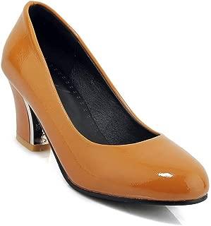 BalaMasa Womens APL12117 Pu Block Heels
