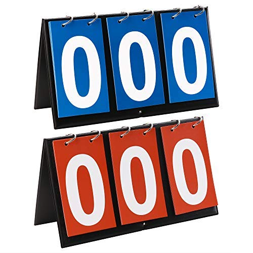 Bluecell 2 Sets 3-Digital Portable Table Top Sports Volleyball Basketball Table Tennis Scoreboards