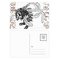 中国山地河川の傑作を描いて 公式ポストカードセットサンクスカード郵送側20個